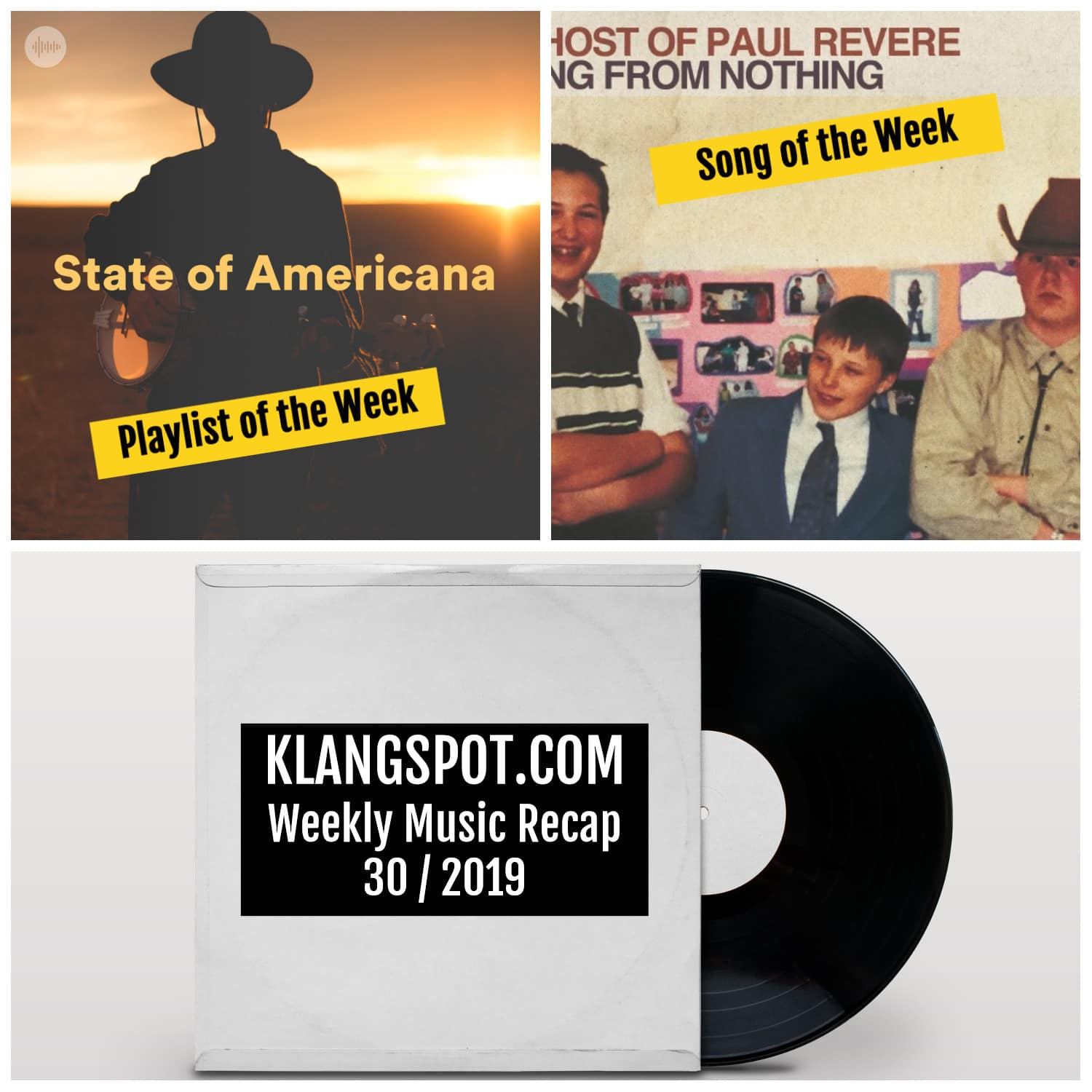 Weekly Music Recap 30/2019: Stafe of Americana / The Ghost of Paul Revere - 'Nothing from Nothing'