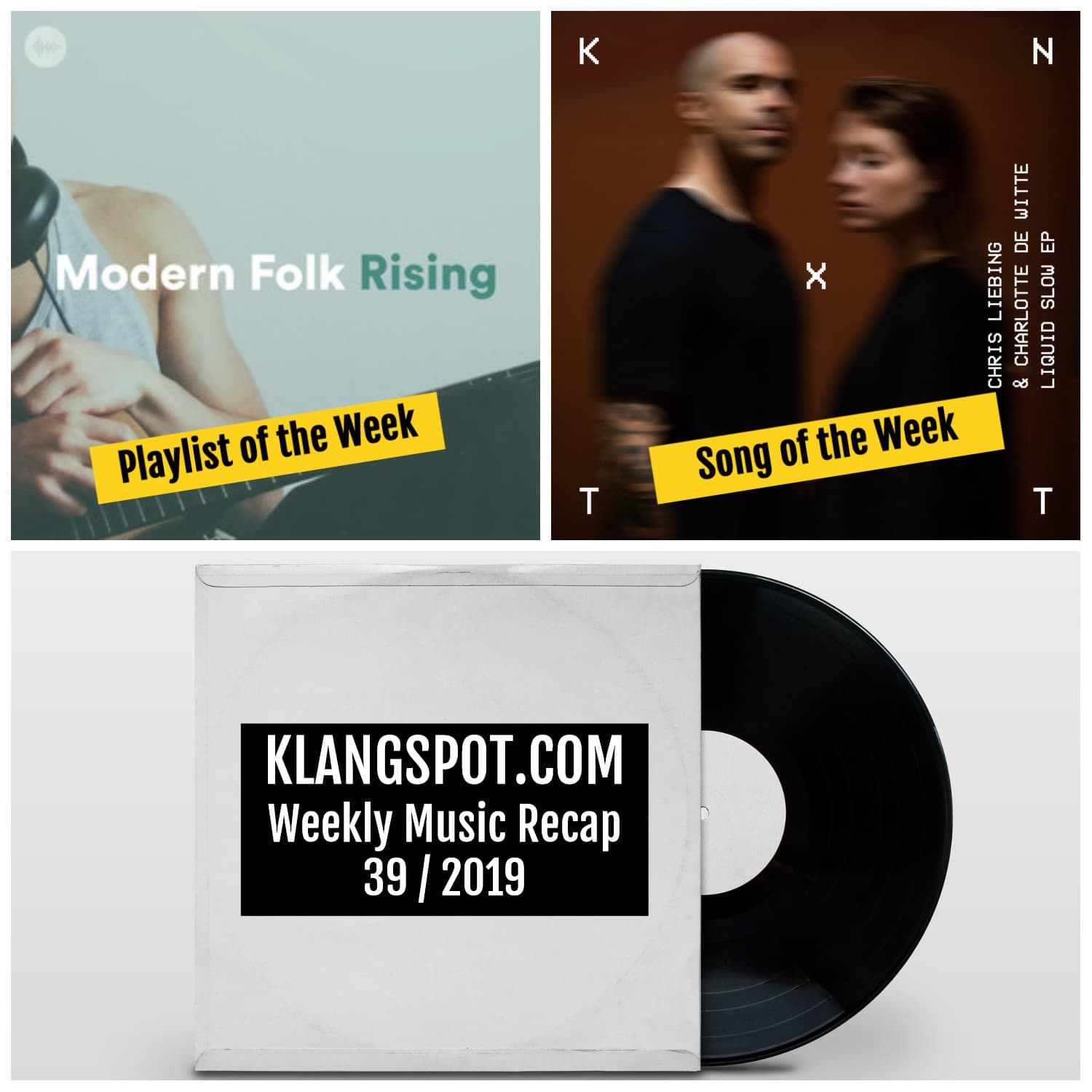 Weekly Music Recap 39/2019: Modern Folk Rising / Chris Liebing & Charlotte de Witte - 'In Memory'