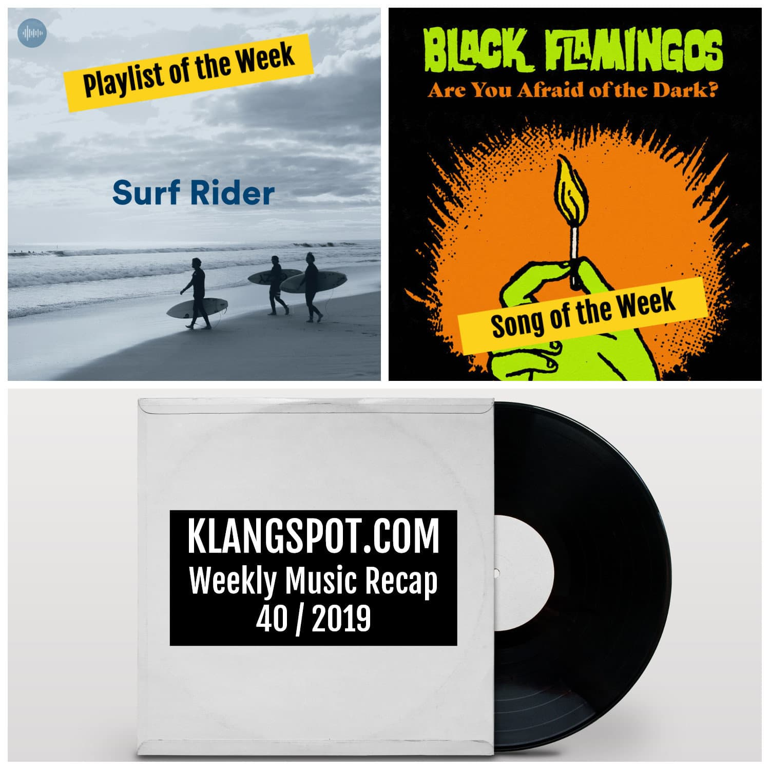 Weekly Music Recap 40/2019: Surf Rider / Black Flamingos - 'Are You Afraid of The Dark?'