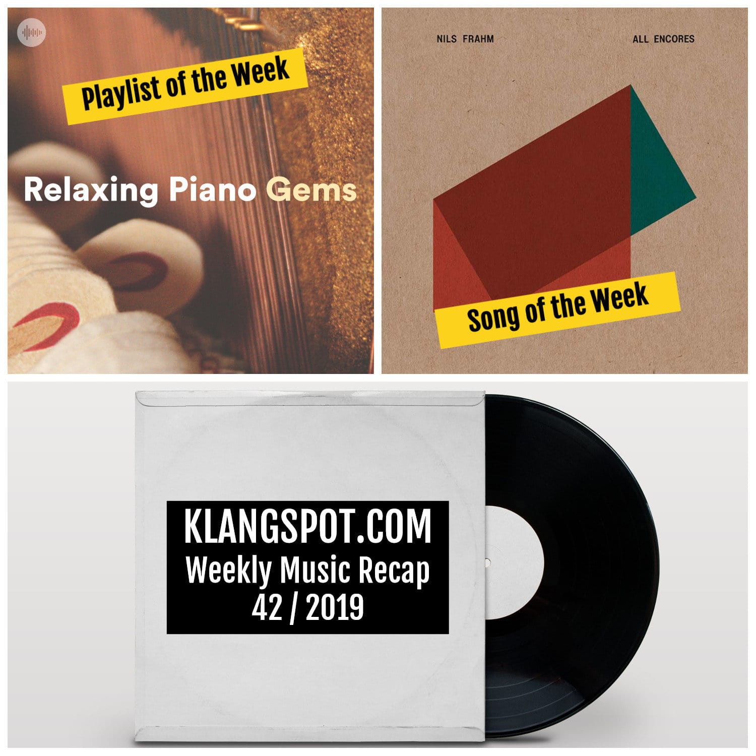 Weekly Music Recap 42/2019: Nils Frahm - 'To Thomas' | Relaxing Piano Gems