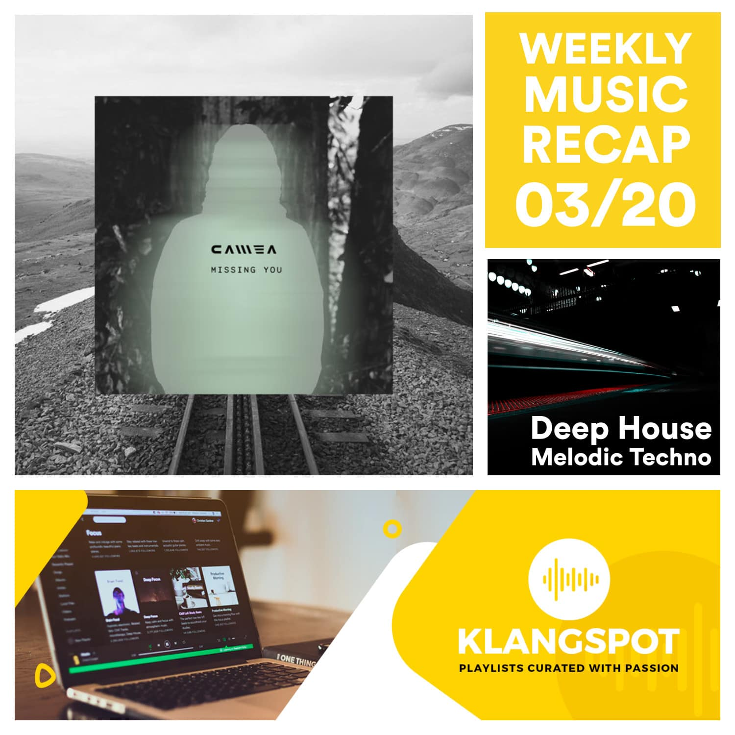Weekly Music Recap 03_20_ Camea - Missing You (Deep House & Melodic Techno)