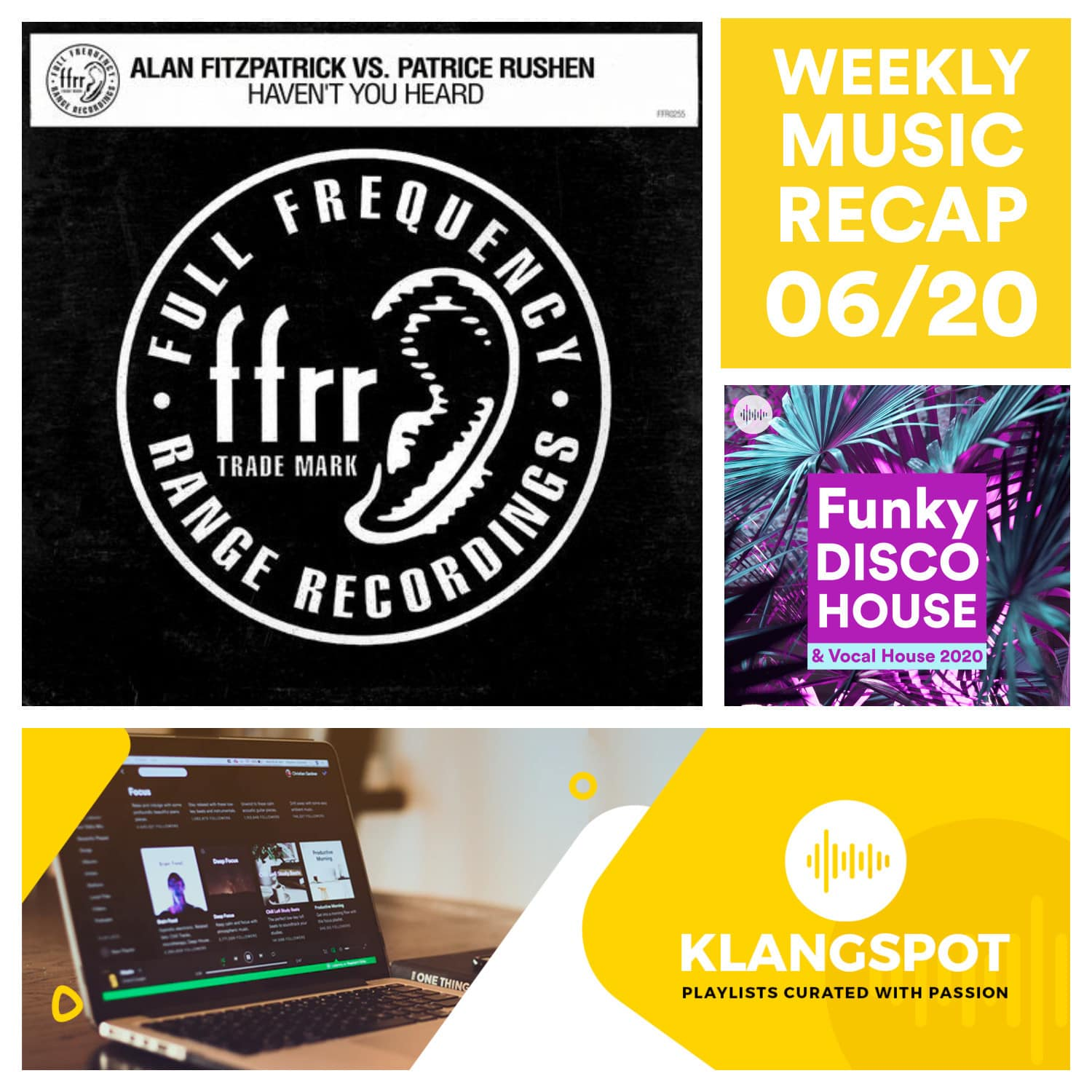 Weekly Music Recap 06/20: Alan Fitzpatrick; Patrice Rushen – Haven't You Heard (Fitzy's Half Charged Mix)