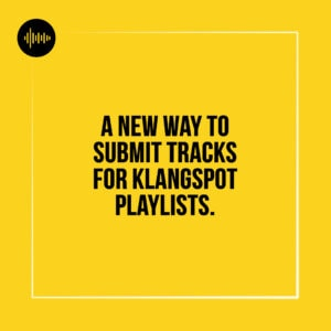 Klangspot Spotify Playlist Submission